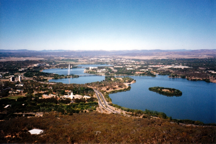 03-09-1998 02 from Telstra tower Canberra Lake Burley Griffin & Capital side.jpg
