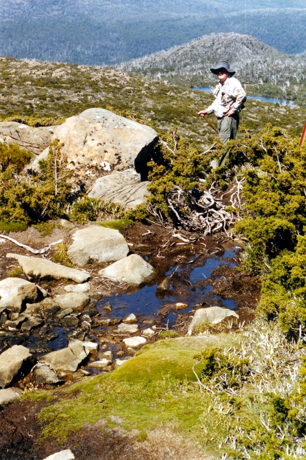 02-17-2000 26 boggy track to Tarn Shelf