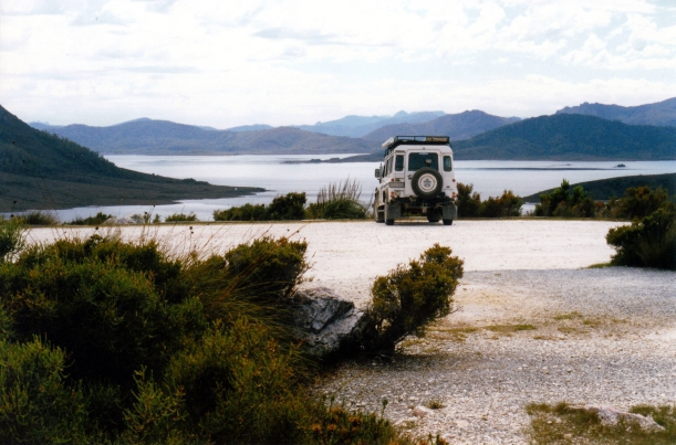 02-18-2000 11 truck and Lake Pedder