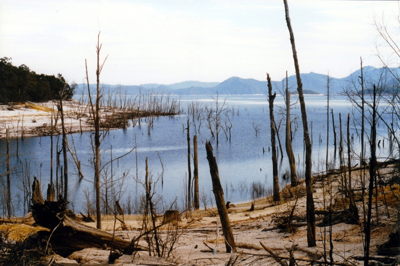 02-19-2000 03 Lake Gordon drought level.jpg