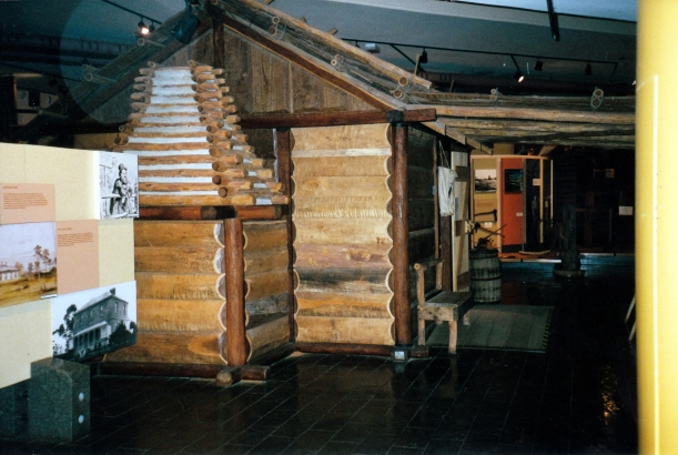 05-20-2000 replica settlers hut Stockmans Hall of Fame