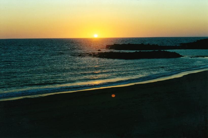 09-07-2000 sunset Middle Lagoon