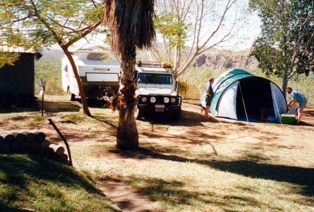 Resize of 06-09-2002 02 Lake Julius camp by sheer drop