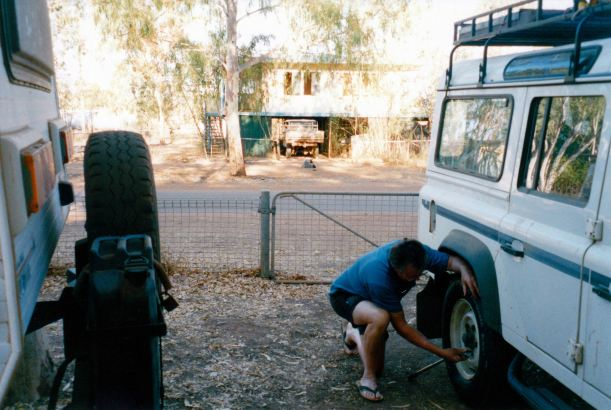 Resize of 08-31-2002 01 Doomadgee, new tyre from Mt Isa.jpg