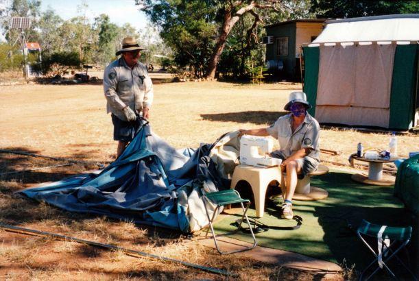 Resize of 06-13-2003 isobel and john fixing tent adels.jpg