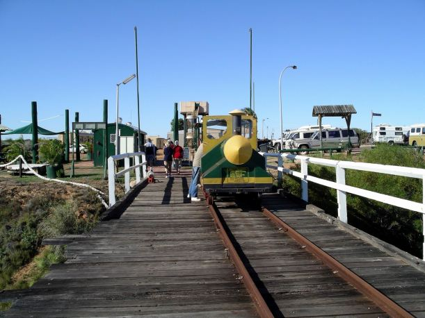 Resize of 07-04-2004 01 Carnarvon jetty train.JPG