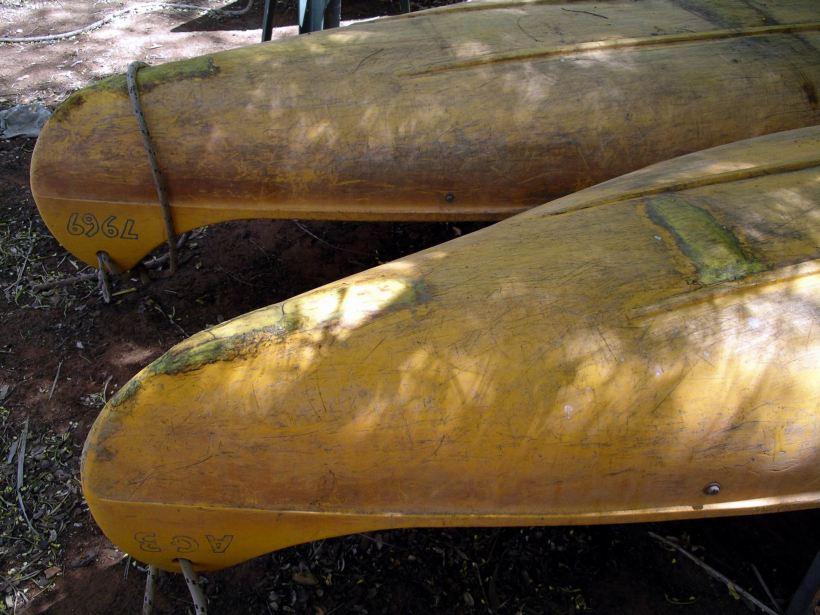 Resize of 4-6-2005 Adels canoe damage from portage.jpg
