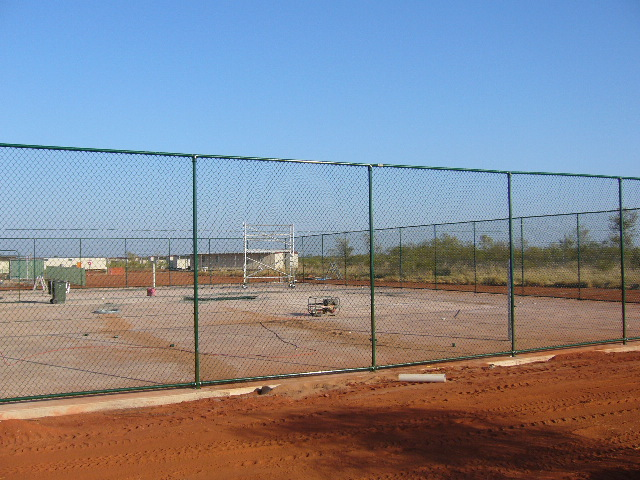 12-03-2006 Tennis Court fenced